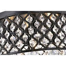 4 Light Semi Flush Ceiling Fixture by Black Semi Flush Mount Crystal Chandelier 4 Light Ceiling Fixture