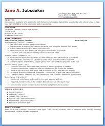 nanny resume template nanny resume sles nanny resume template word