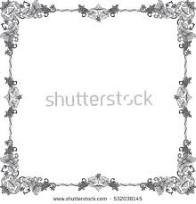 historical frame color floral ornaments din stock vector 532037989