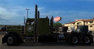 peterbilt us army skin for peterbilt 389 truck american truck simulator