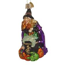 with cauldron halloween ornament old world christmas