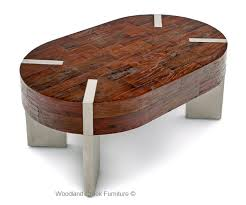 Wood Oval Coffee Table - rustic meets modern coffee table reclaimed coffee table custom