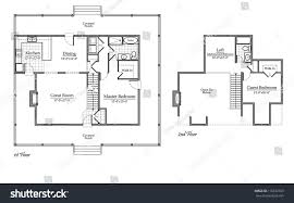 country house floor plan room names stock illustration 110872769