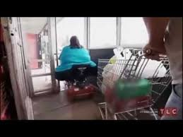 Merica Wheelchair Meme - america f ck yeah fat woman tries to pass through the door youtube