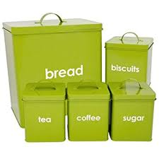 lime green kitchen canisters premier housewares liberty tea coffee and sugar canisters set of
