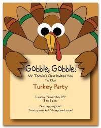 printable turkey invitation template