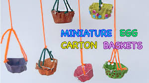 how to make cute baskets from egg cartons crafts for kids youtube