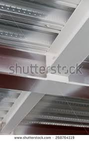 detail metal decking universal column universal stock photo