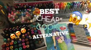 best copic marker alternative art desk tour youtube