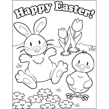 happy easter coloring pages glum me