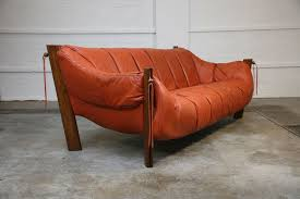 Leather Sofa Seat Percival Lafer Mp111 Rosewood Leather Vintage Sofa 3 Seat