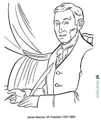 presidents coloring pages james monroe