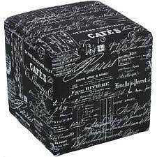 Printed Storage Ottoman Vinyl Contemporary Storage Ottomans Ebay