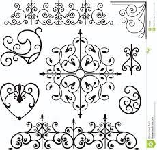 wrough iron ornaments royalty free stock photos image 3739608