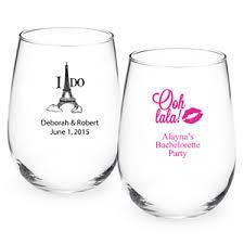 stemless wine glasses wedding favors personalized stemless wine glass favors personalized
