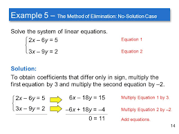 14 example 5 the method of elimination no solution case solve the system