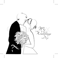 and white wedding black and white wedding background stock vector colourbox