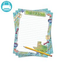 lined writing paper for 1st grade texas writing template border paper teaching ideas and kindergarten printable texas themed border paper for writing reports 0 40