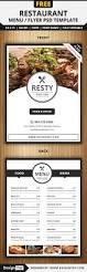 free restaurant menu flyer psd template free flyers
