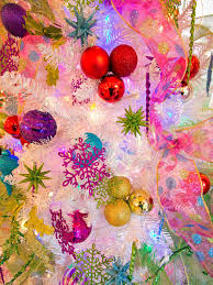 colorful christmas tree ornaments christmas lights decoration