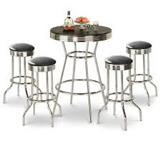 red pub table and chairs the furniture cove 5 piece retro black bistro table pub set with