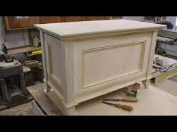 How To Build A Wooden Toy Box by Make A Blanket Chest Toy Chest Part 2 Making The Top By Jon