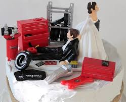 mechanic cake topper car auto mechanic wedding cake topper groom tool box