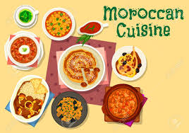 moroccan cuisine traditional dishes icon of chicken tomato soup