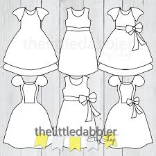 dress clipart templates baby shower princess birthday dress