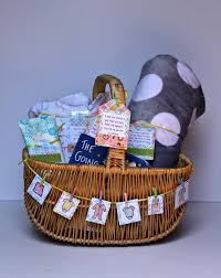 baby shower basket lots of and more laundry baby shower gift basket with tags