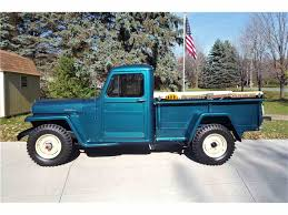willys jeep truck green 1955 willys jeep for sale classiccars com cc 1047349