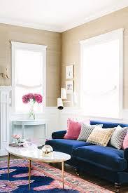 navy blue velvet sofa love this room navy blue velvet sofa vibrant rug gold and marble