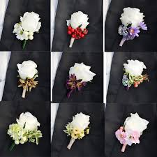 corsage and boutonniere cost groom boutonniere artificial silk flower best suit