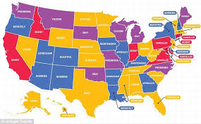 most beautiful us states google reveals the most misspelled words in each us region daily