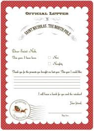 letter from santa template word it last week today she got a with