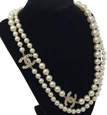 brand new pearl necklace images Chanel pearl crystal necklace tradesy jpg