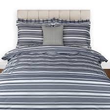 buy gant log stripe duvet cover midnight blue amara