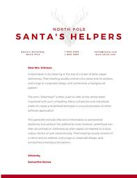 red and grey reindeer christmas letterhead templates by canva