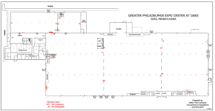 Kitchen Floor Plan Dimensions by Floorplans U0026 Dimensions The Greater Philadelphia Expo Center