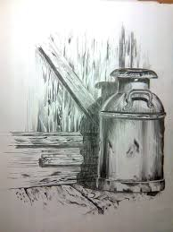 an old milk can drawing by ashish arora