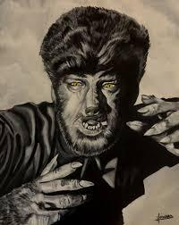 the wolfman lon chaney jr art print reproduction 10