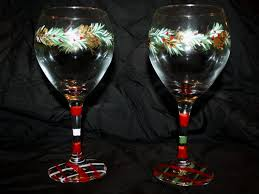 christmas holiday wine glasses artistic attitudes