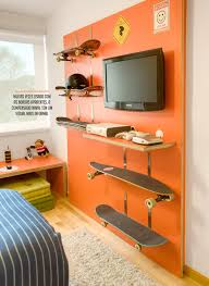 Cool Shelves For Bedrooms 15 Cool Teenage Boy Room Ideas Skateboard Snowboards And Shelves