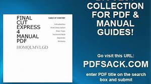 final cut express 4 manual pdf video dailymotion