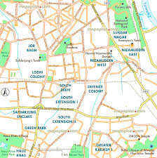 Metro Map Delhi Download by Delhi Map Detailed Map Of South Delhi Showing Humayun U0027s Tomb
