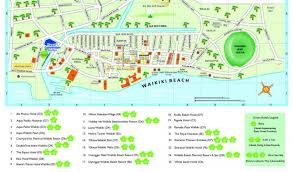 map of waikiki book your accommodation iucn conservation congress