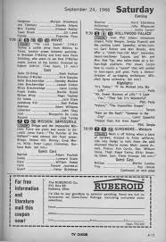 tv guide for cleveland ohio ctva us tv listings 1966