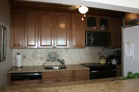 Restaining Kitchen Cabinets Darker Light Color Granite Incredible Home Design