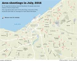 Chicago Homicide Map by More Than 90 Shot 12 Killed In Cleveland In July Cleveland Com