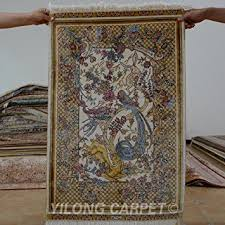 Hanging Rugs On A Wall Amazon Com Yilong 2 U0027x3 U0027 Handmade Silk Rug Oriental Persian